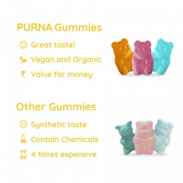 Purna Immunity Vitamin C Supplement Lemon Flavor, 30 Gummies