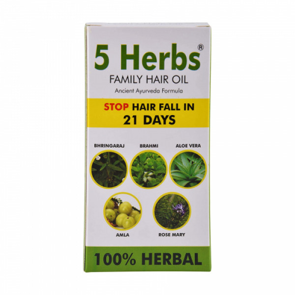5 Herbs Family Hair Oil, 120ml
