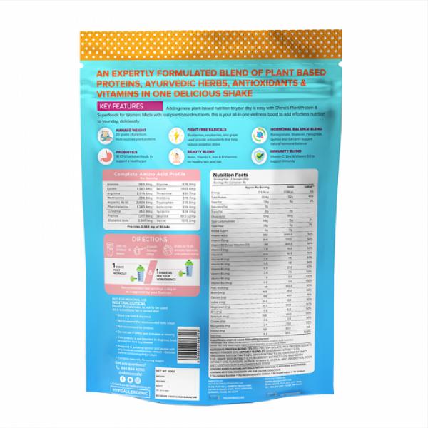 Plix Olena Plant-Based Women's Protein & Super Foods Tropical Mango Flavour, 15 Servings