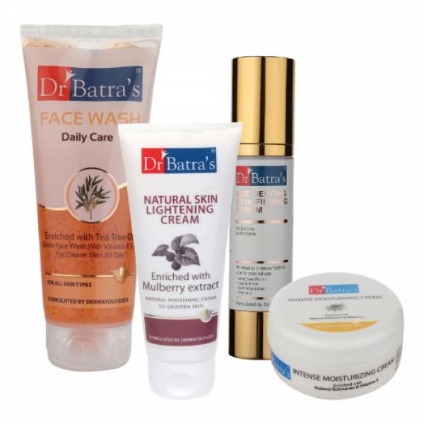 Dr Batra's Serum, Face Wash Daily Care, Natural Skin Cream with Intense Moisturizing Cream