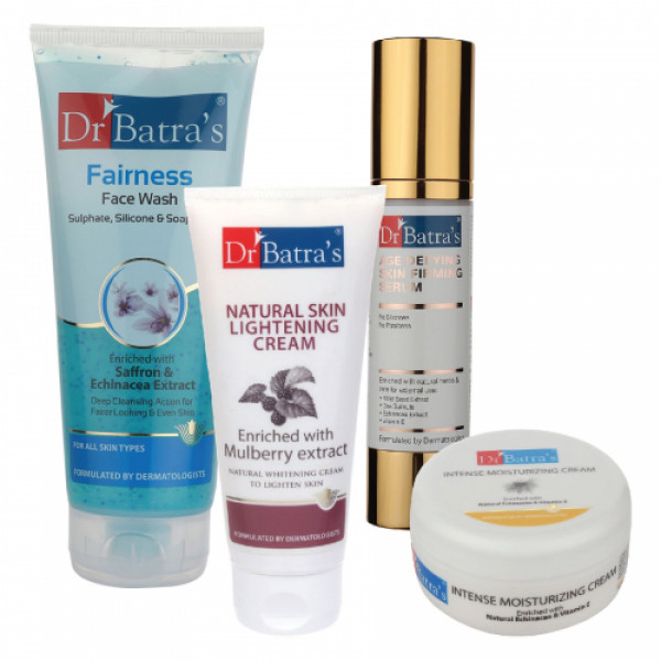 Dr Batra's Serum, Face Wash, Natural Skin Cream, with Intense Moisturizing Cream