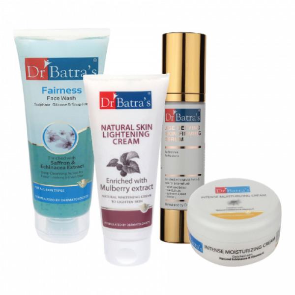 Dr Batra's Serum, Face Wash, Intense Moisturizing Cream with Natural Skin Cream