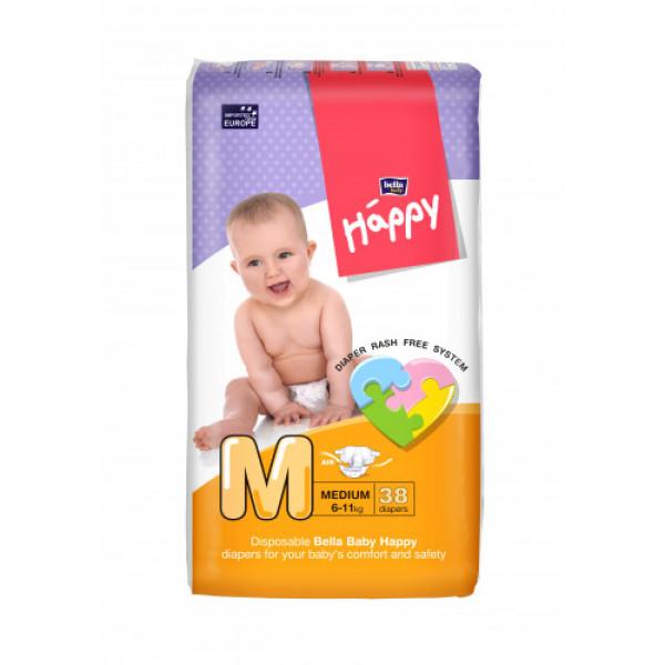 Bella Baby Happy Diapers Medium, 38 Pieces