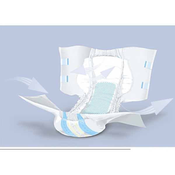 Super Seni Breathable Adult Diapers Medium, 10 Pieces