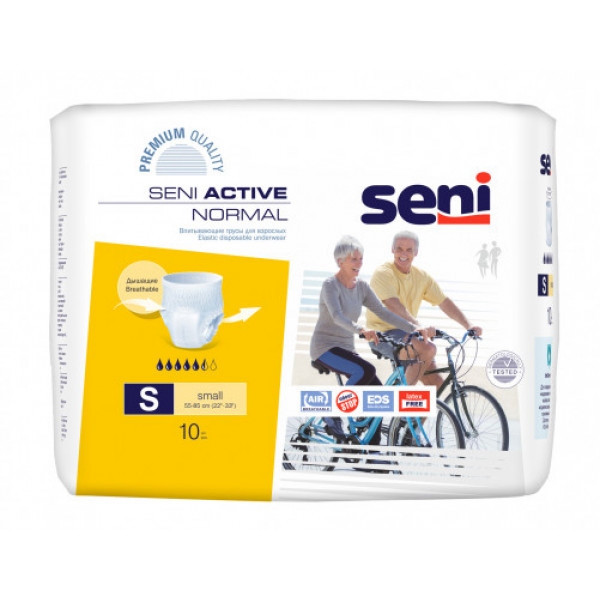 Seni Active Normal Breathable Pull-Ups Small, 10 Pieces