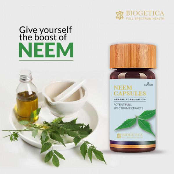 Biogetica Neem, 80 Capsules