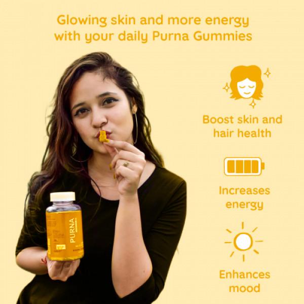Purna Complete Multivitamin Supplement Mango Flavor, 30 Gummies