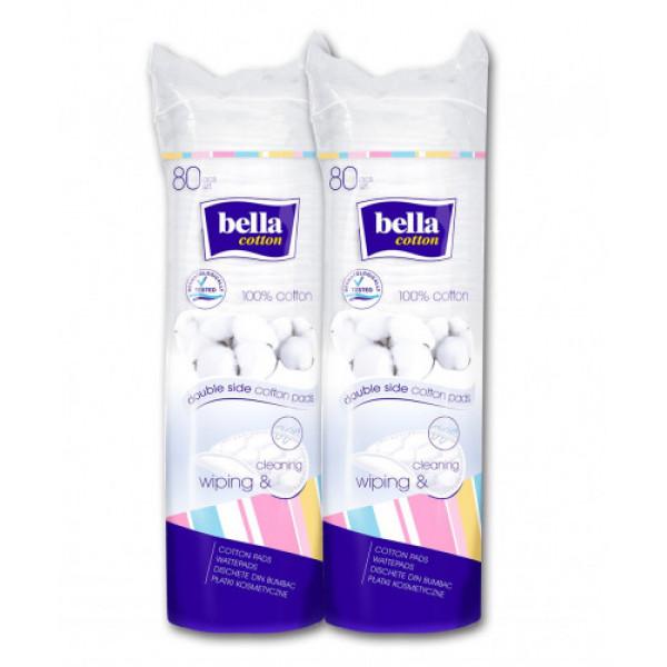 Bella Cotton Pads, 80 Pieces (2+1 Combi Pack)