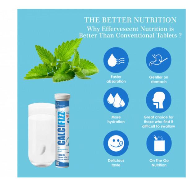 Coral's Calcifizz Calcium and Vitamin D3 Effervescent, 20 Tablets