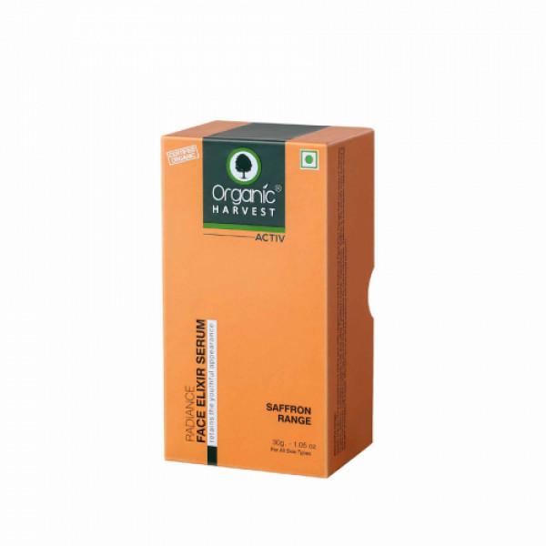 Organic Harvest Active Range Radiance Face Elixir Serum, 30ml