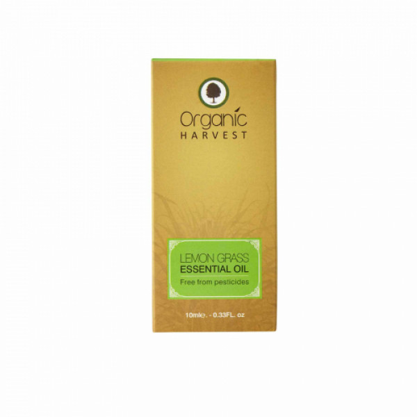 Organic Harvest Lemon Grass Essential Oil, 10ml