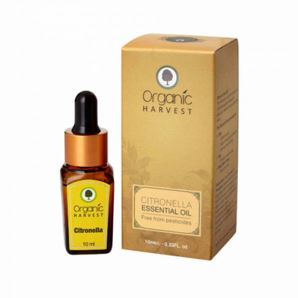 Organic Harvest Citronella Essential Oil,10ml