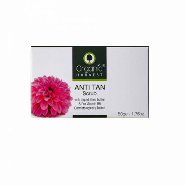 Organic Harvest Anti Tan Scrub, 50gm