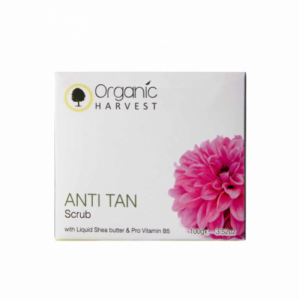 Organic Harvest Anti Tan Scrub, 100gm
