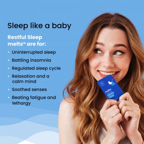 Wellbeing Nutrition Melts Restful Sleep Plant Based Melatonin 5mg