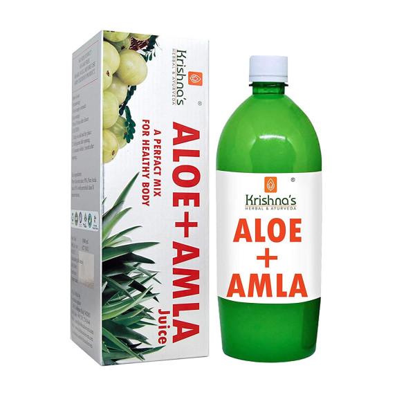 Krishna's Aloe Vera Amla Mix Juice, 1000ml