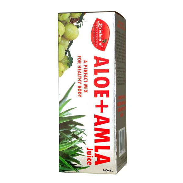 Krishna's Aloe Vera Amla Mix Juice, 500ml
