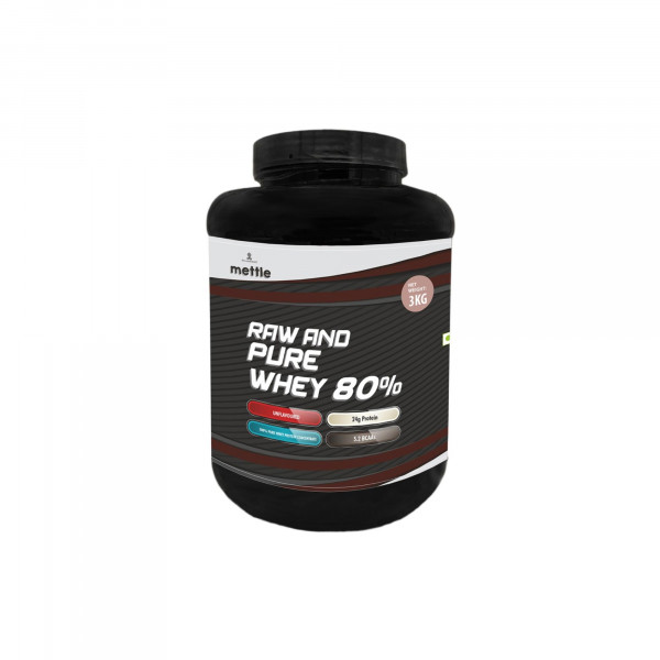 Mettle Raw And Pure Whey 80%, 3kg