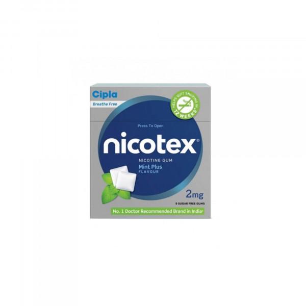 Nicotex 2mg Mint Plus Flavour Sugar Free Gums, Pack Of 3