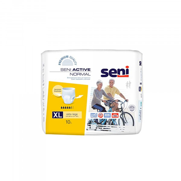 Seni Active Normal Breathable Pull-Ups X-Large, 10 Pieces