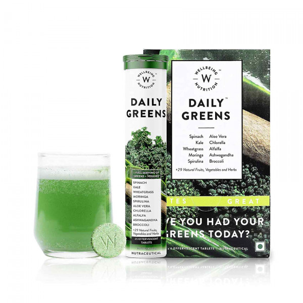 Wellbeing Nutrition Daily Greens Wholefood Multivitamin for Immunity and Detox, 90 Tablets