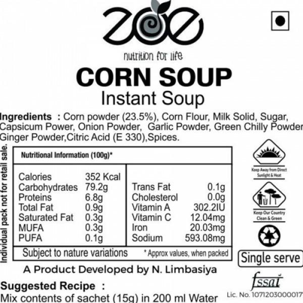 Zoe Natural High Fibre Corn Soup, 30 Sachets