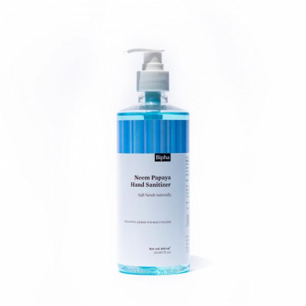 Bipha Ayurveda Neem Papaya Hand Sanitizer Liquid, 500ml
