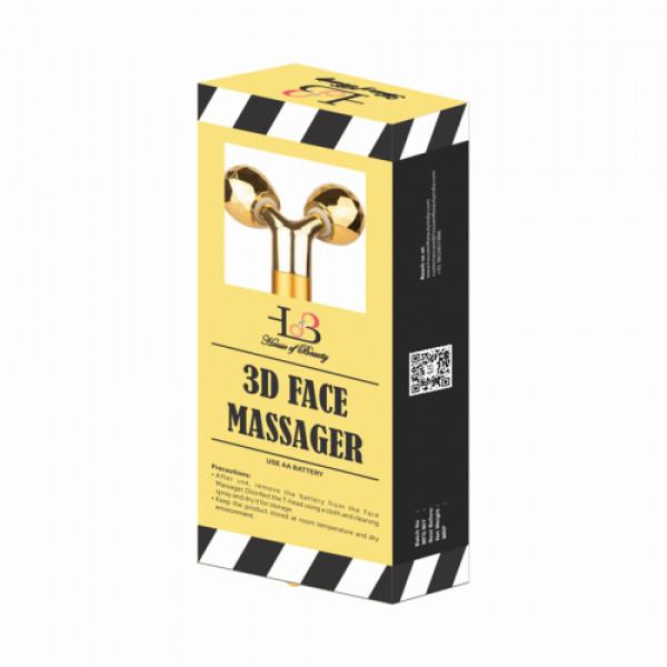 House Of Beauty 3D Face Massager Yellow Gold