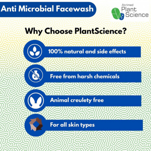 Atrimed Plant Science Anti Microbial Face Wash, 200ml
