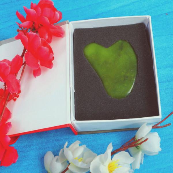 KvellVeda 100% Natural Jade Gua Sha Tool