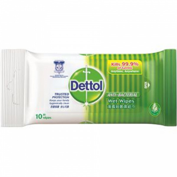 Dettol Wet Wipes, 10s