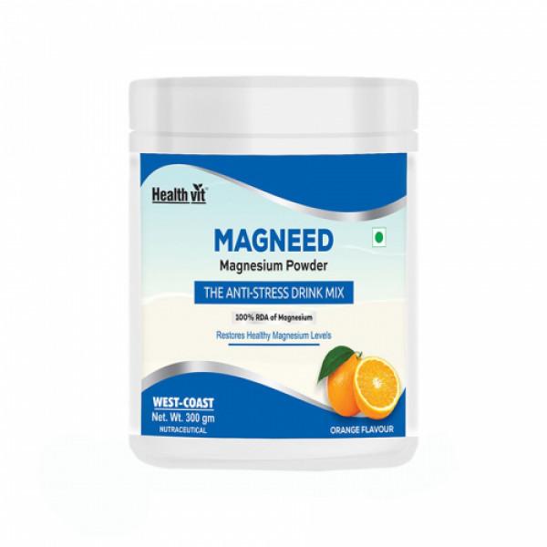 Healthvit Magneed Magnesium Powder the Anti-Stress Drink, 300gm