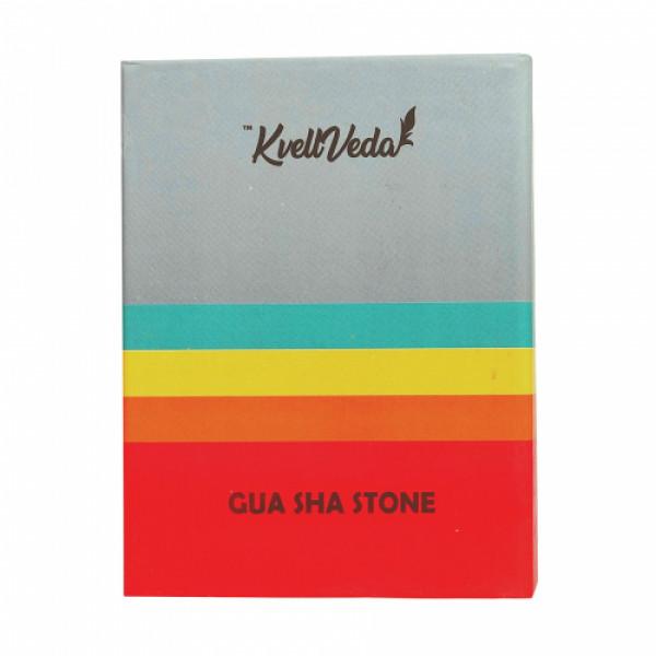 KvellVeda 100% Natural Authentic Amethyst Facial Roller & Jade Gua Sha Tool Combo