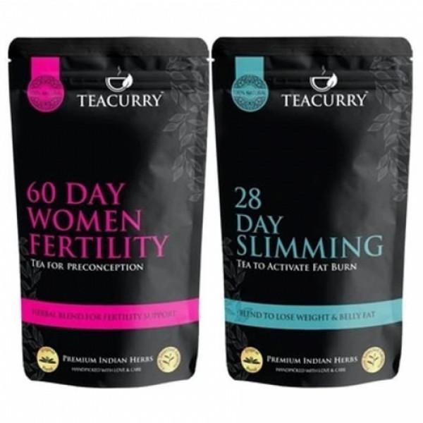 Teacurry Fertili Support Slimming Tea for Women, 200gm