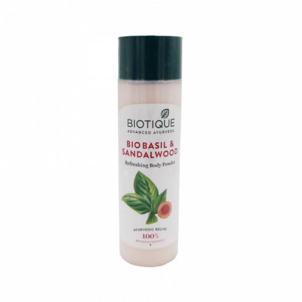 Biotique Bio Basil & Sandalwood Refreshing Body Powder, 150gm
