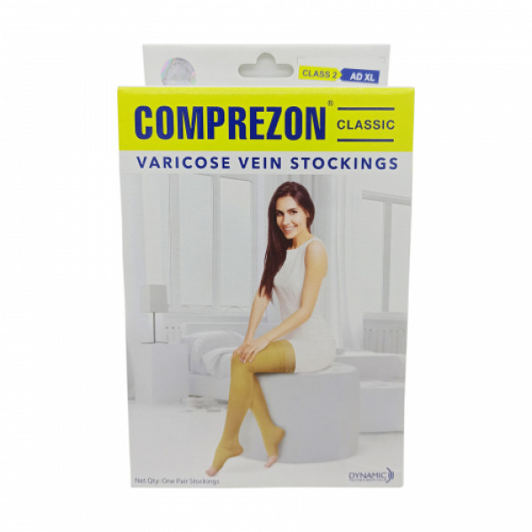 Dyna Comprezon Classic Varicose Vein Stockings - Class 2AD (Below Knee) 23-26 Cms (M)