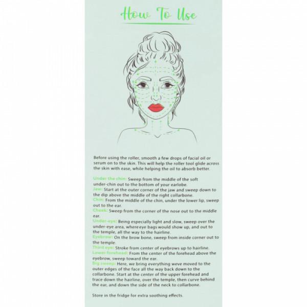 KvellVeda 100% Natural Jade Facial Roller Massager