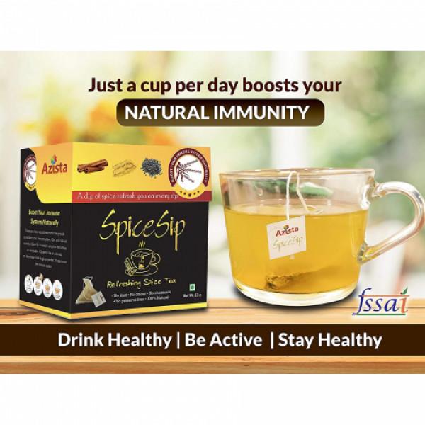Spice Sip Natural Immunity Booster Herbal Tea, 6 Tea Bags