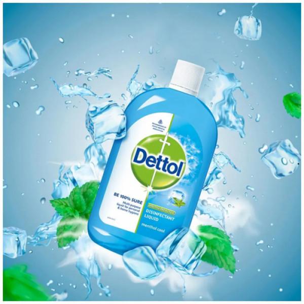 Dettol Multi-Purpose Disinfectant Liquid Menthol Cool Fragrance, 500ml