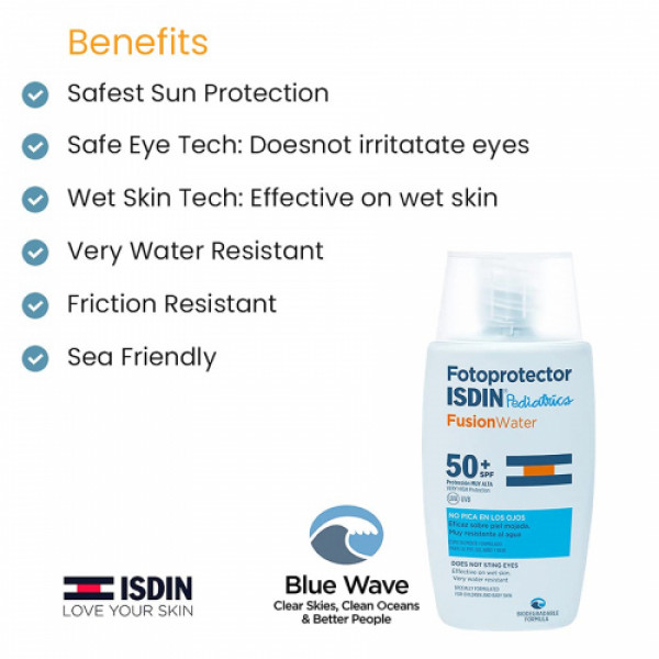 ISDIN Pediatrics Fotoprotector Fusion Water SPF50+ 50ml