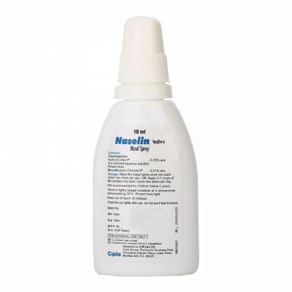 Naselin Nasal Spray, 10ml