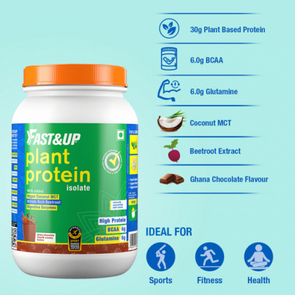 Fast&Up Plant Protein Isolate Post Workout (Chocolate), 1.35kg