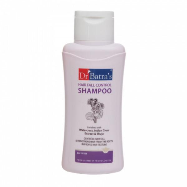 Dr Batra's Hair Fall Control Serum, 125ml & Hair Fall Control Shampoo, 500ml With Hair Oil, 200ml