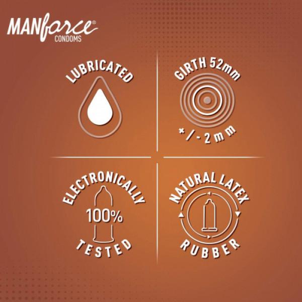 Manforce Chocolate & Hazelnut Cocktail Condoms, 10 Pieces