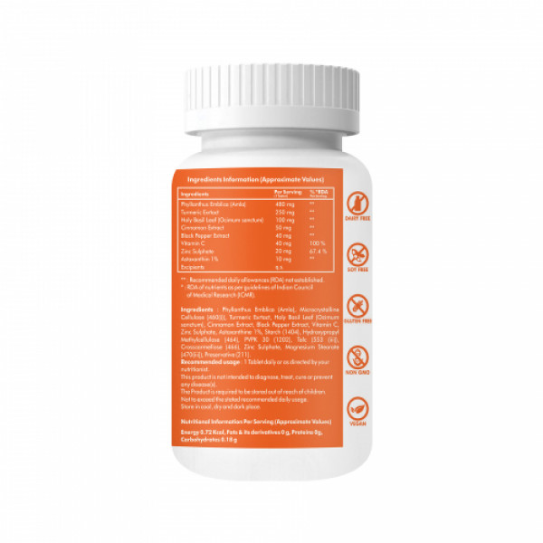 Ontodot Natural Immunity Booster with Amla & Zinc, 60 Tablets