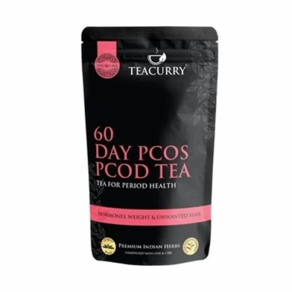 Teacurry 28 Day Slimming Tea With 30 Day PCOS Tea Combo Pack (30 Tea Bags Each)