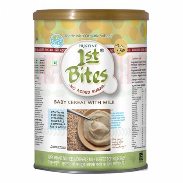 Pristine 1st Bites Organic Wheat Baby Cereal, 400gm (No Added Sugar)