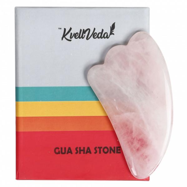 KvellVeda 100% Natural Rose Quartz Gua Sha Tool