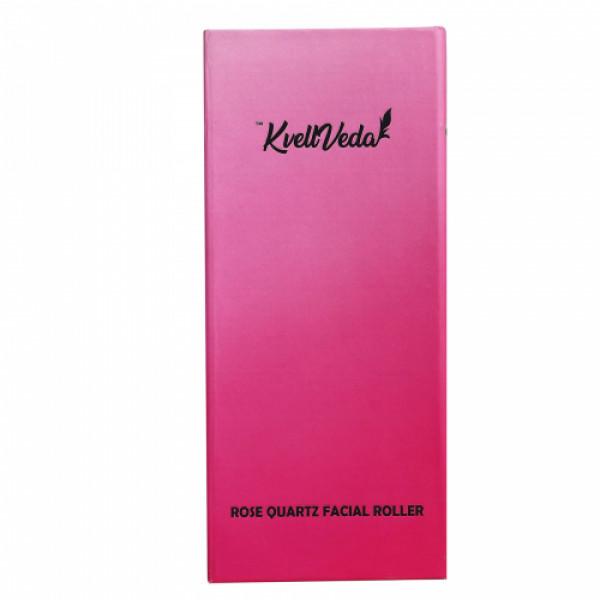 KvellVeda 100% Natural Rose Quartz Facial Roller Massager