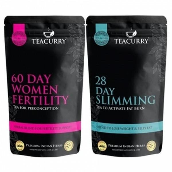 Teacurry Fertili Support Slimming Tea for Women, 30 Tea Bags (Pack Of 2)